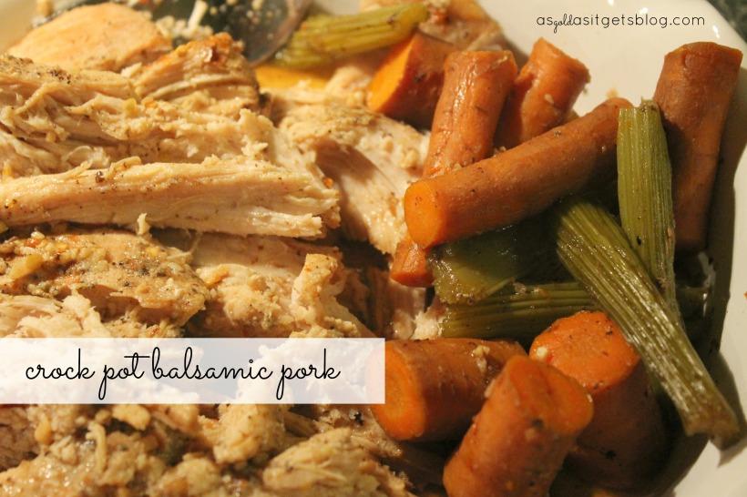 balsamic pork crock pot