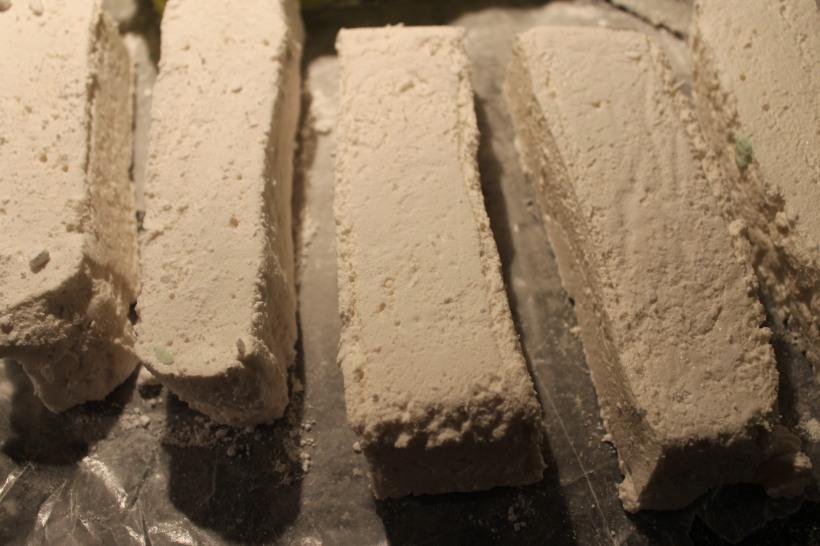 cutting marshmallow