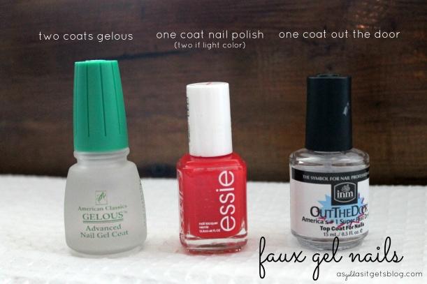 faux gel nail