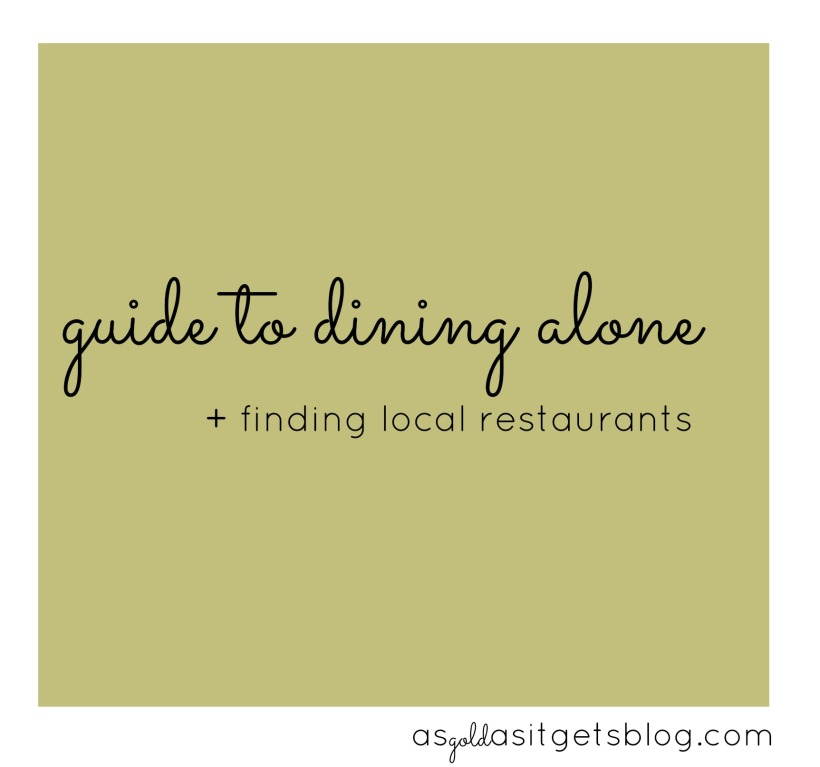guide to dining alone