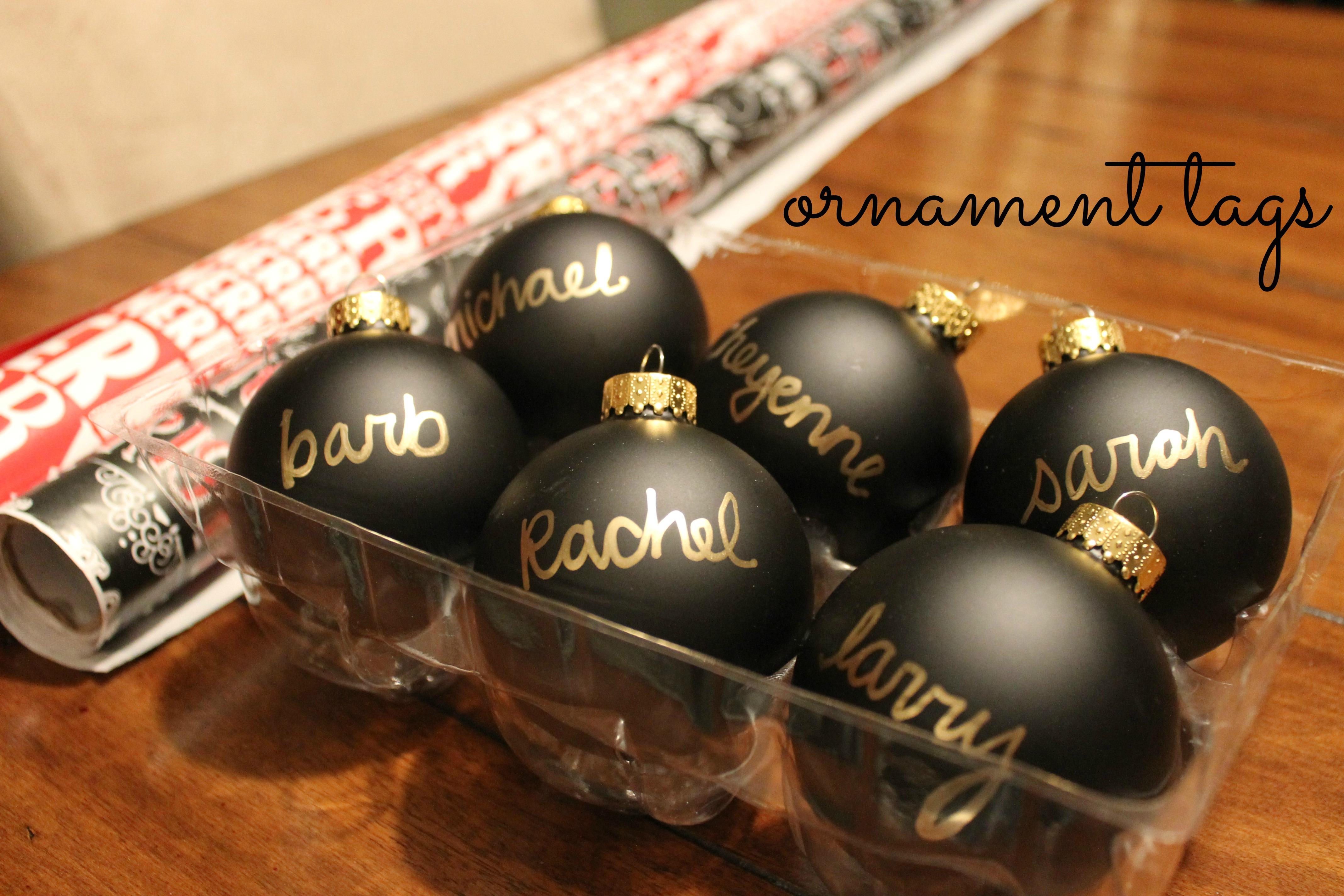 Black and gold christmas decorations - Diy Christmas Ornament Tags