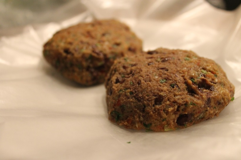 black bean burger patty