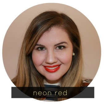 neon red vivids lipstick