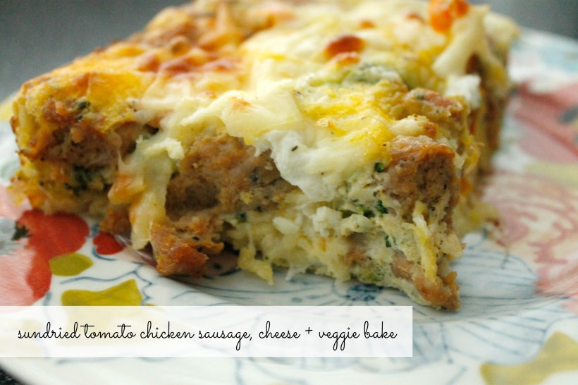 sausage cheese and veggie bake