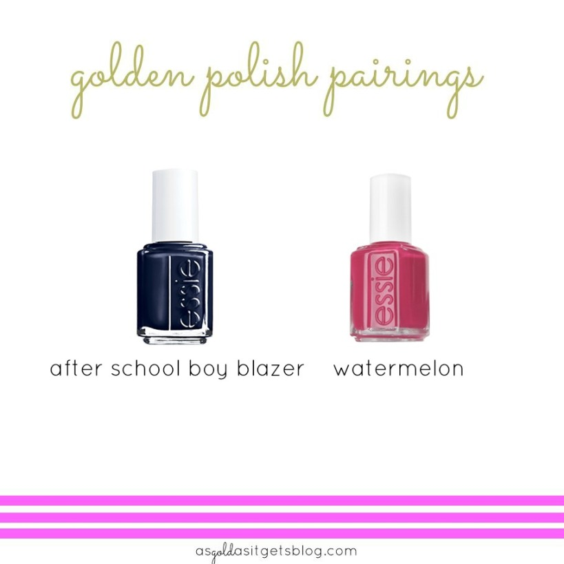 essie after school boy blazer + watermelon
