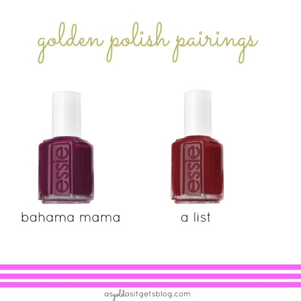 essie bahama mama and alist
