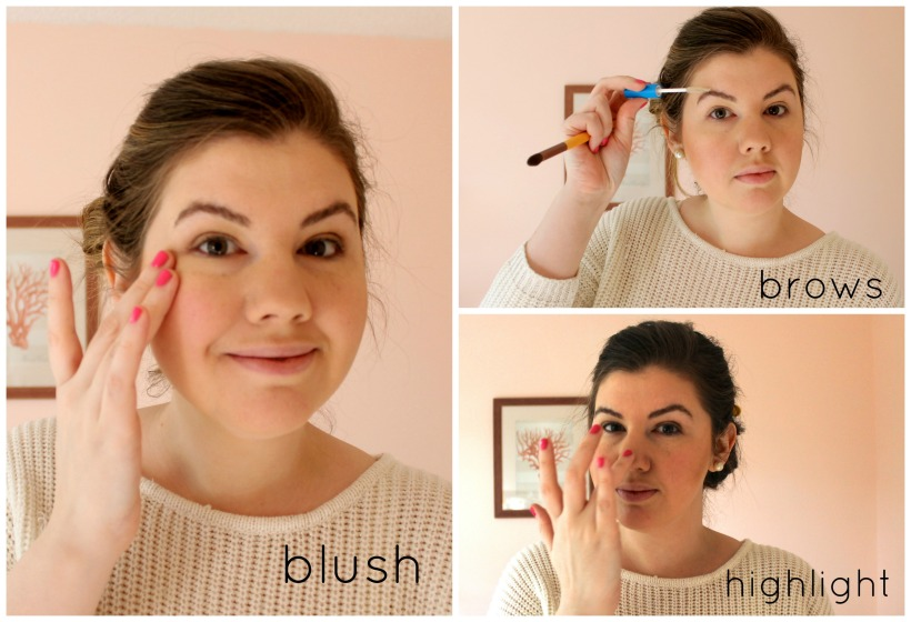 blush brows highlight | everyday makeup routine - as GOLD as it gets