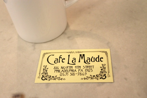cafe la maude card