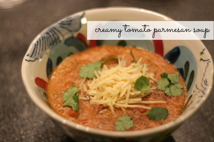 creamy tomato parmesan soup | as GOLD as it gets