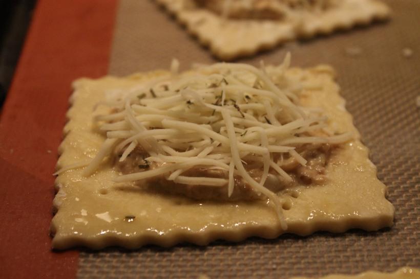 preparing onion tartlets