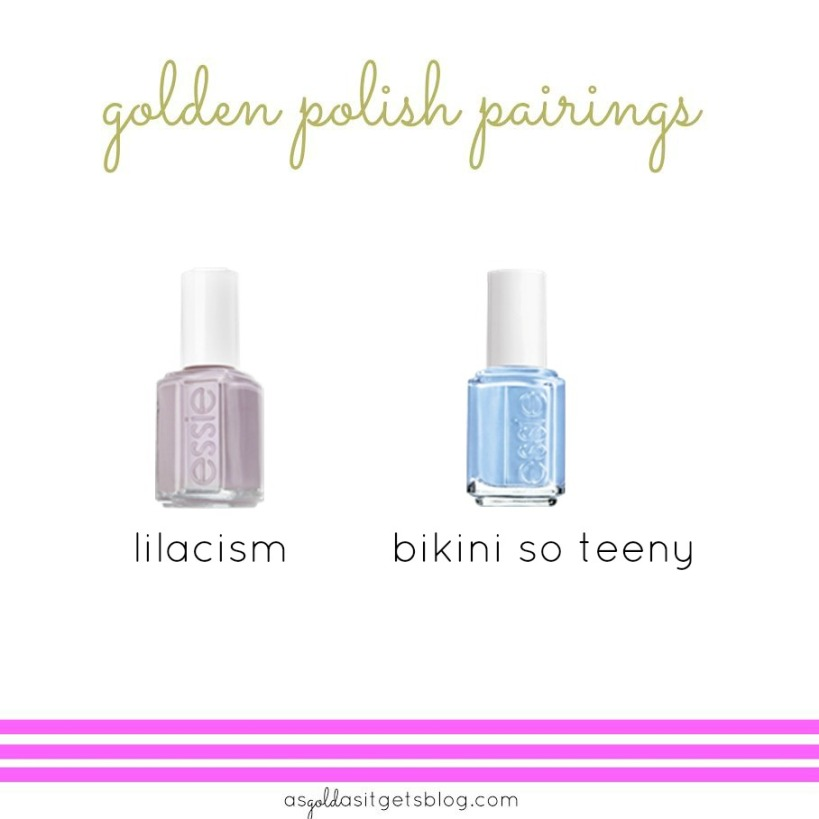 essie lilacism + bikini so teeny