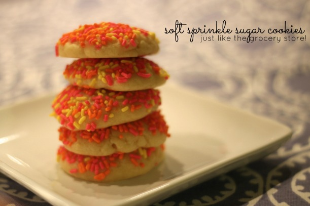 soft sprinkle sugar cookies | as GOLD as it gets