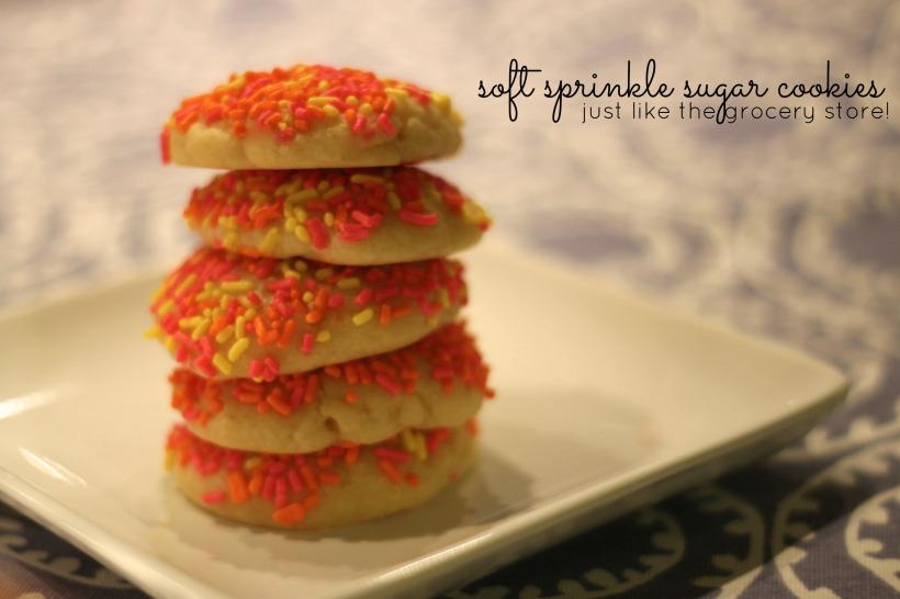 soft sprinkle sugar cookies | as GOLD as it gets