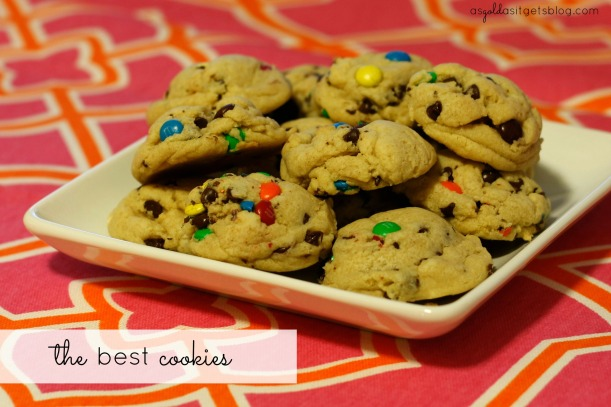 the best m+m and chocolate chip cookies