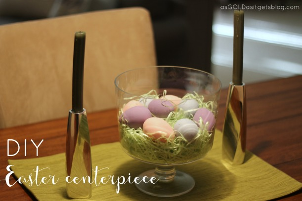 diy easter centerpiece | as GOLD as it gets blog