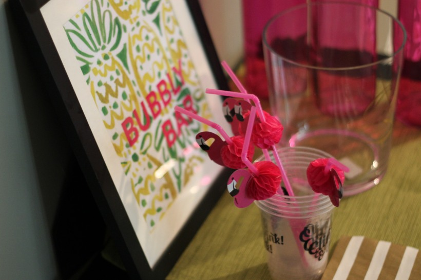Lilly Pulitzer party, bubbly bar | as GOLD as it gets blog