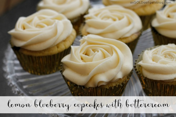 lemon blueberry cupcakes | as GOLD as it gets blog