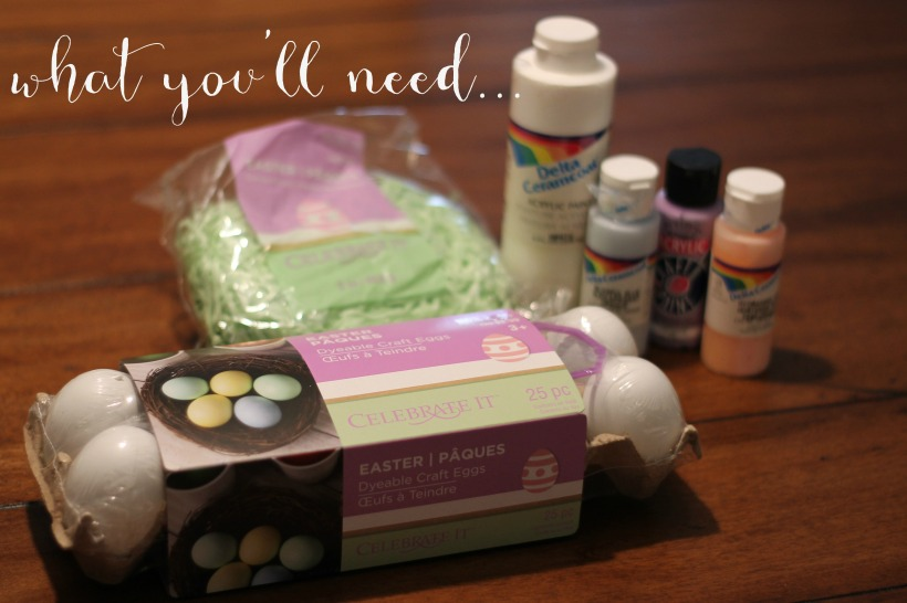 what you'll need - easy DIY easter centerpiece