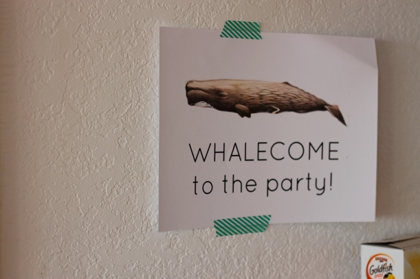nautical party signs - wholesome to the party