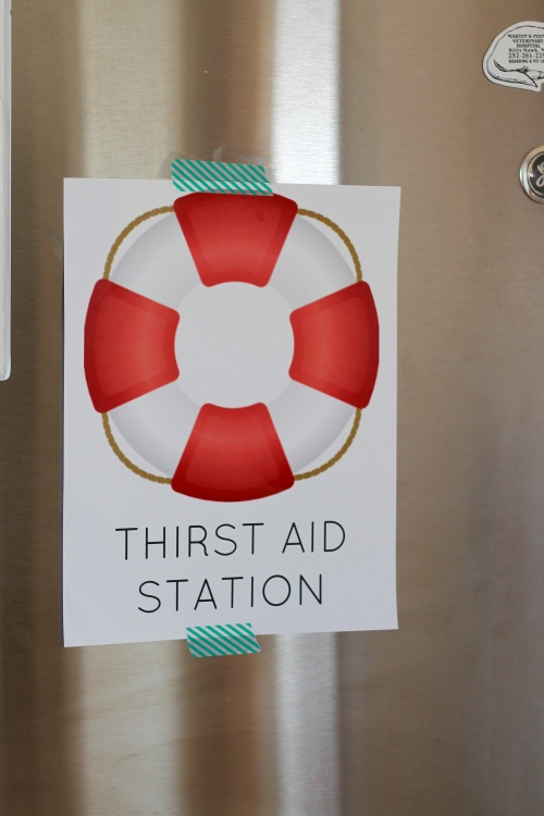 nautical party signs - thirst aid station