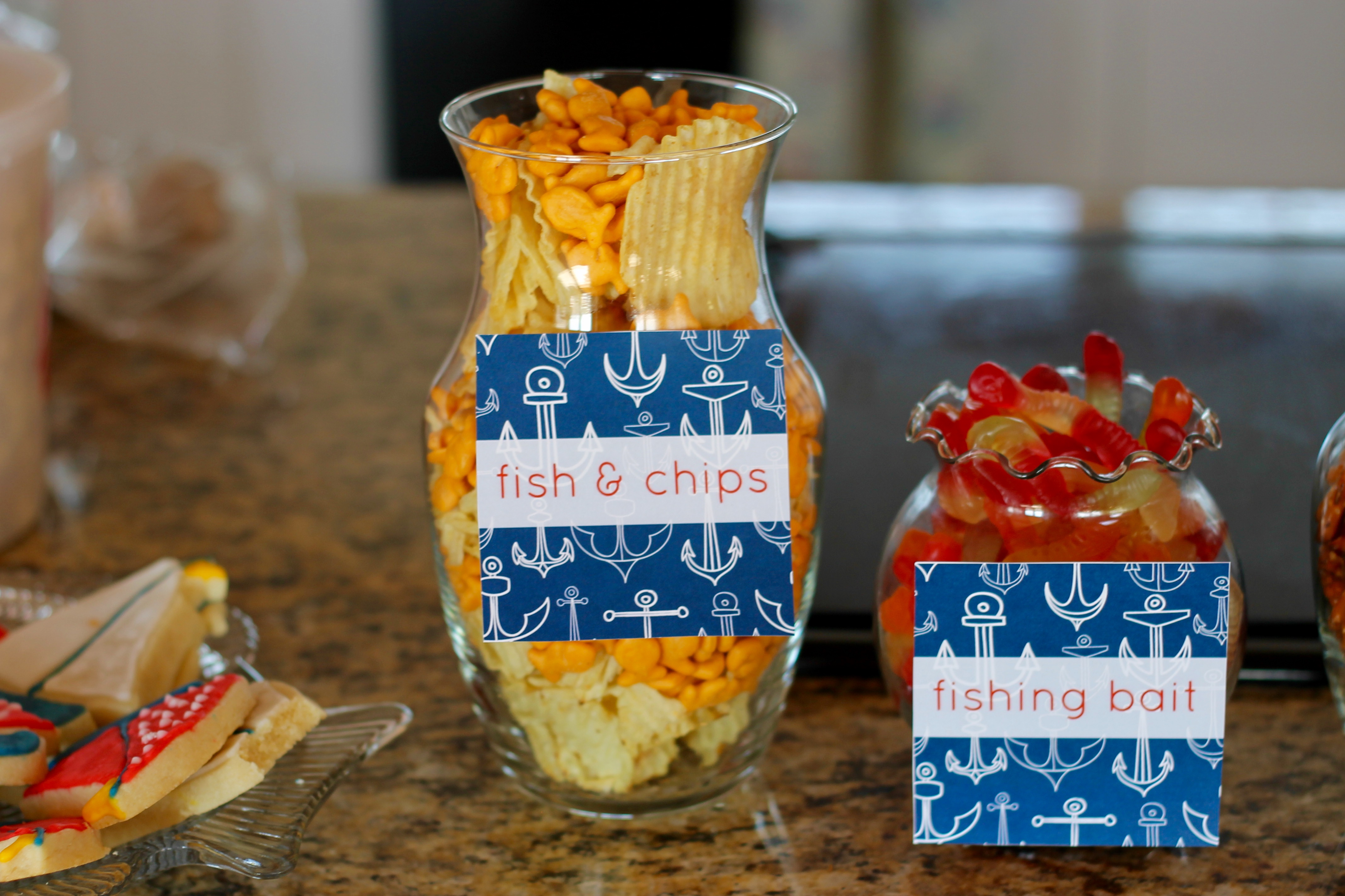 nautical party snack bar | as GOLD as it gets