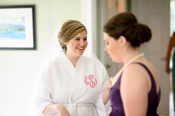 monogrammed bridal robe