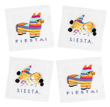 domino fiesta siesta cocktail napkins