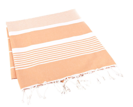 tangerine turkish towel