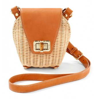 JMcLaughlin Wicker Crossbody Bag