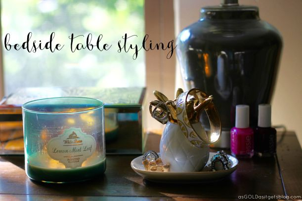 bedside table styling | as GOLD as it gets blog