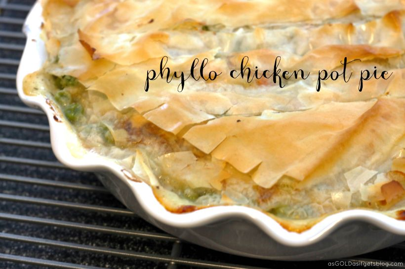 Chicken pot pie with phyllo dough