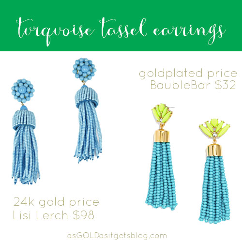 turquoise tassel earrings on a budget