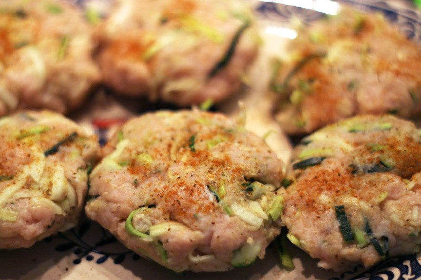 bruschetta turkey zucchini burgers