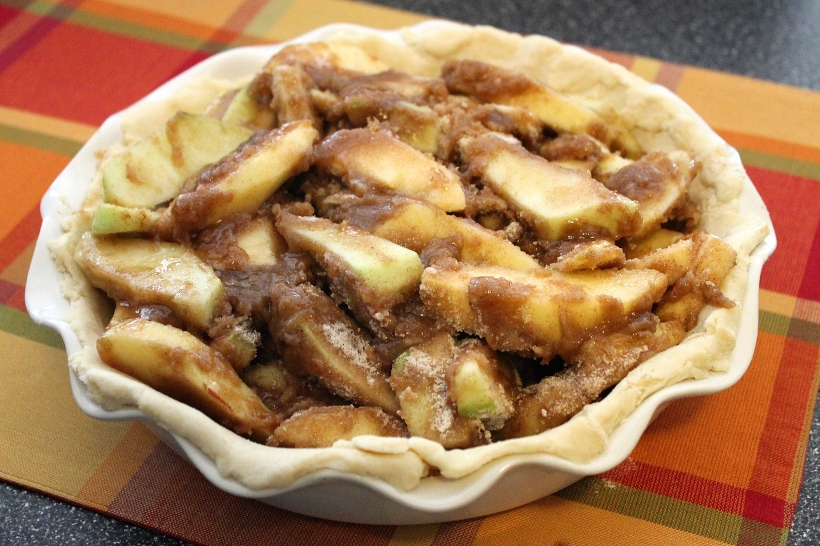 brown butter bourbon apple pie