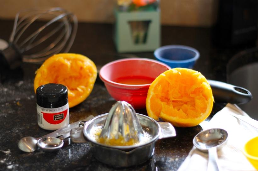 lemon chiffon cupcake prep