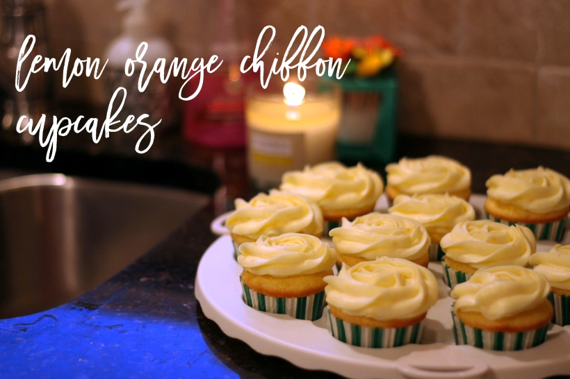 lemon orange chiffon cupcakes
