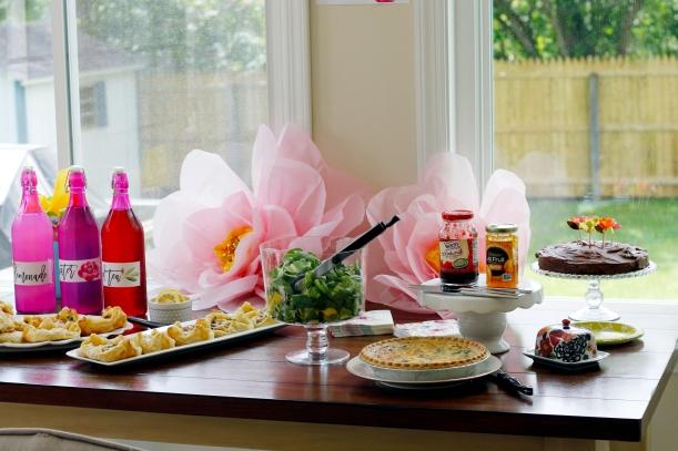 mothers day brunch food setup