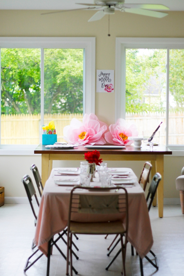 mothers day brunch in the sunroom
