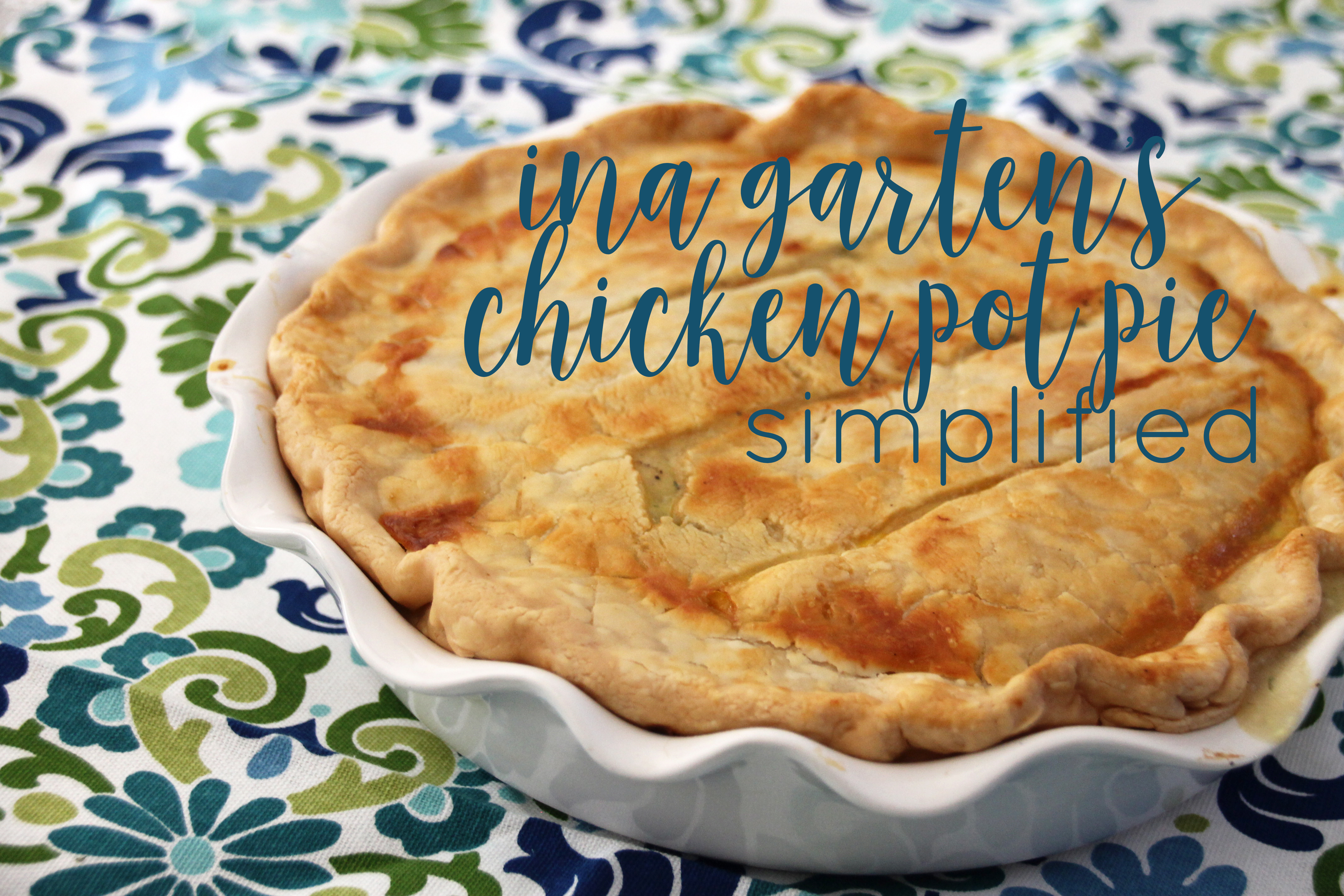 ina garten's chicken pot pie simplified | as gold as it gets